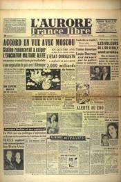 Aurore France Libre (L') N°1228 du 25/08/1948 - Couverture - Format classique
