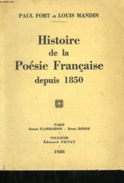Histoire De La Poesie Francaise Depuis 1850. - Couverture - Format classique