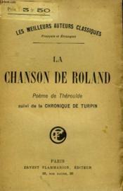 La Chanson De Roland Suivi De La Chronique De Turpin. - Couverture - Format classique