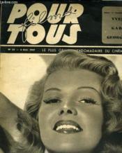 Films Pour Tous. Le Plus Grand Hebdomadaire Du Cinema N°56 - Couverture - Format classique