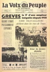 Voix Du Peuple De Touraine (La) N°1296 du 22/05/1966 - Couverture - Format classique