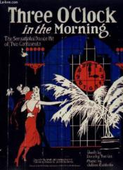 Three O'Clock In The Morning - Waltz Song With Chimes - Piano Et Chant. - Couverture - Format classique