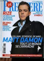 Premiere N° 344 - Gilliam, Scorsese, De Niro... Matt Damon, Tout Le Monde Se L'Arrache - Couverture - Format classique
