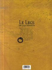 Le legs de l'alchimiste t.5 ; Anna & Zaccharia - 4ème de couverture - Format classique