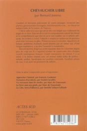 Chevaucher Libre - 4ème de couverture - Format classique