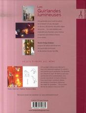 Les guirlandes lumineuses ; accessoires, décoration, customisation - 4ème de couverture - Format classique