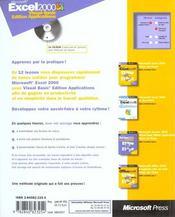 Microsoft Excel 2000 Visual Basic Edition ; Applications Etape Par Etape - 4ème de couverture - Format classique