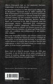 Giacometti - 4ème de couverture - Format classique