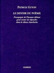 Le devoir du poème - Couverture - Format classique