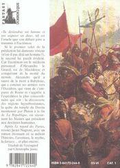 Le Mythe D'Er ; Le Dernier Voyage D'Alexandre Le Grand - 4ème de couverture - Format classique