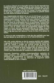Correspondre Avec Bruce Lee - 4ème de couverture - Format classique
