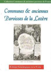 Communes et anciennes paroisses de la lozere - Couverture - Format classique