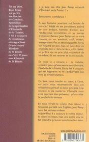 Confidences d'un prêtre ; élisabeth de la trinité m'a sauvé - 4ème de couverture - Format classique