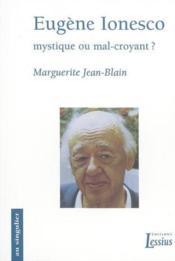 Eugene Ionesco - Couverture - Format classique