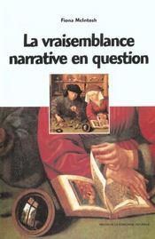 La Vraisemblance Narrative En Question. Walter Scott, Barbey D'Aurevi Lly - Intérieur - Format classique