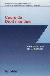 Cours de droit maritime - Intérieur - Format classique