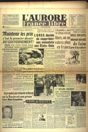 Aurore France Libre (L') N°1229 du 26/08/1948 - Couverture - Format classique
