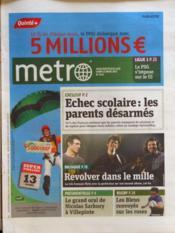 Metro Paris N°2172 du 12/03/2012 - Couverture - Format classique