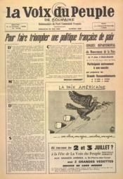 Voix Du Peuple De Touraine (La) N°1296 du 29/05/1966 - Couverture - Format classique