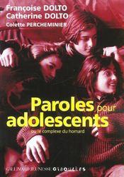 Paroles pour adolescents - Intérieur - Format classique