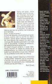 Au-Dela Du Desir ; Litterature Sexualites Et Ethique - 4ème de couverture - Format classique