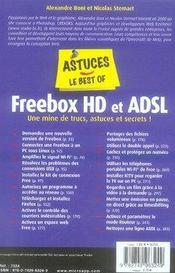 Freebox, Hd Et Adsl - 4ème de couverture - Format classique