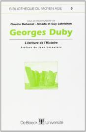 Georges Duby - Couverture - Format classique