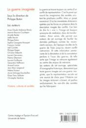 La guerre imaginée - 4ème de couverture - Format classique