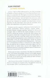 La France Resistante ; Histoires De Heros Ordinaires - 4ème de couverture - Format classique