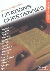 Citations chrétiennes - Intérieur - Format classique