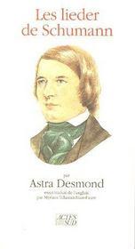 Les Lieder De Schumann - Couverture - Format classique