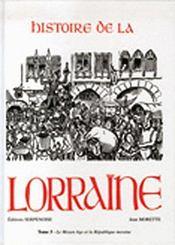Histoire de la Lorraine - Couverture - Format classique