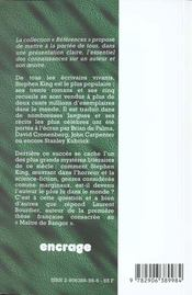 Stephen King, Parcours D'Une Oeuvre - 4ème de couverture - Format classique
