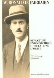 Structure Endopsychique Et Relation D'Objet - Intérieur - Format classique