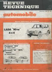 Revue Technique Automobile - Juillet/aout 1983 - N°435 - Evolution De La Construction Peugeot 104 Renault 18, 18 Tl 5l, 5tl - Etude Technique Landia Niva 4x4 - Couverture - Format classique