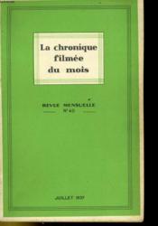 La Chronique Filmee Du Mois N°40 - Couverture - Format classique