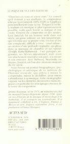 Leos Janacek - 4ème de couverture - Format classique