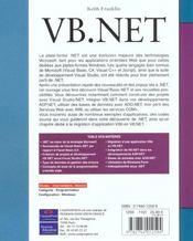 Cp Reference Developpement Vb.Net - 4ème de couverture - Format classique
