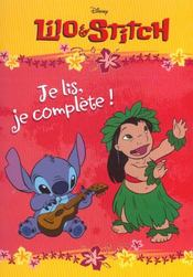 Lilo Et Stitch ; Je Lis Je Complete - Intérieur - Format classique