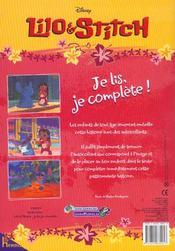 Lilo Et Stitch ; Je Lis Je Complete - 4ème de couverture - Format classique