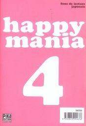 Happy mania t.4 - 4ème de couverture - Format classique
