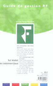 Le statut des commerciaux - 4ème de couverture - Format classique