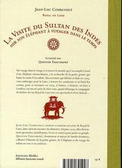 La visite du sultan des indes sur son éléphant à voyager dans le temps - 4ème de couverture - Format classique