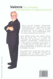 Vaincre Les Maladies Rhumatoides Et Inflam. - 4ème de couverture - Format classique
