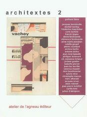 Architextes 2 - Intérieur - Format classique
