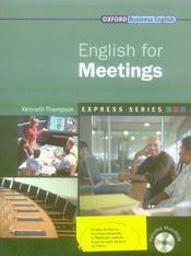 English for meetings - Intérieur - Format classique