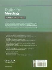 English for meetings - 4ème de couverture - Format classique