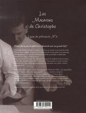 Les macarons de christophe - 4ème de couverture - Format classique