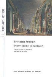 Friedrich Schlegel - Descriptions De Tableaux - Intérieur - Format classique