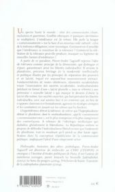 La Republique Enlisee ; Pluralisme, Communautarisme Et Citoyennete - 4ème de couverture - Format classique